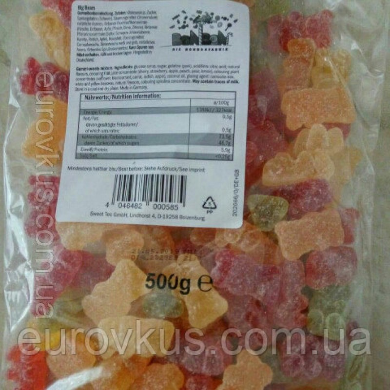 Желейки  BonBon Big Bears 500г