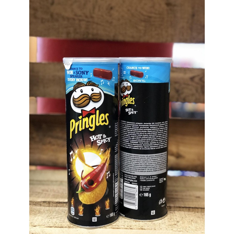 ЧИПСЫ PRINGLES HOT & SPICY 165Г